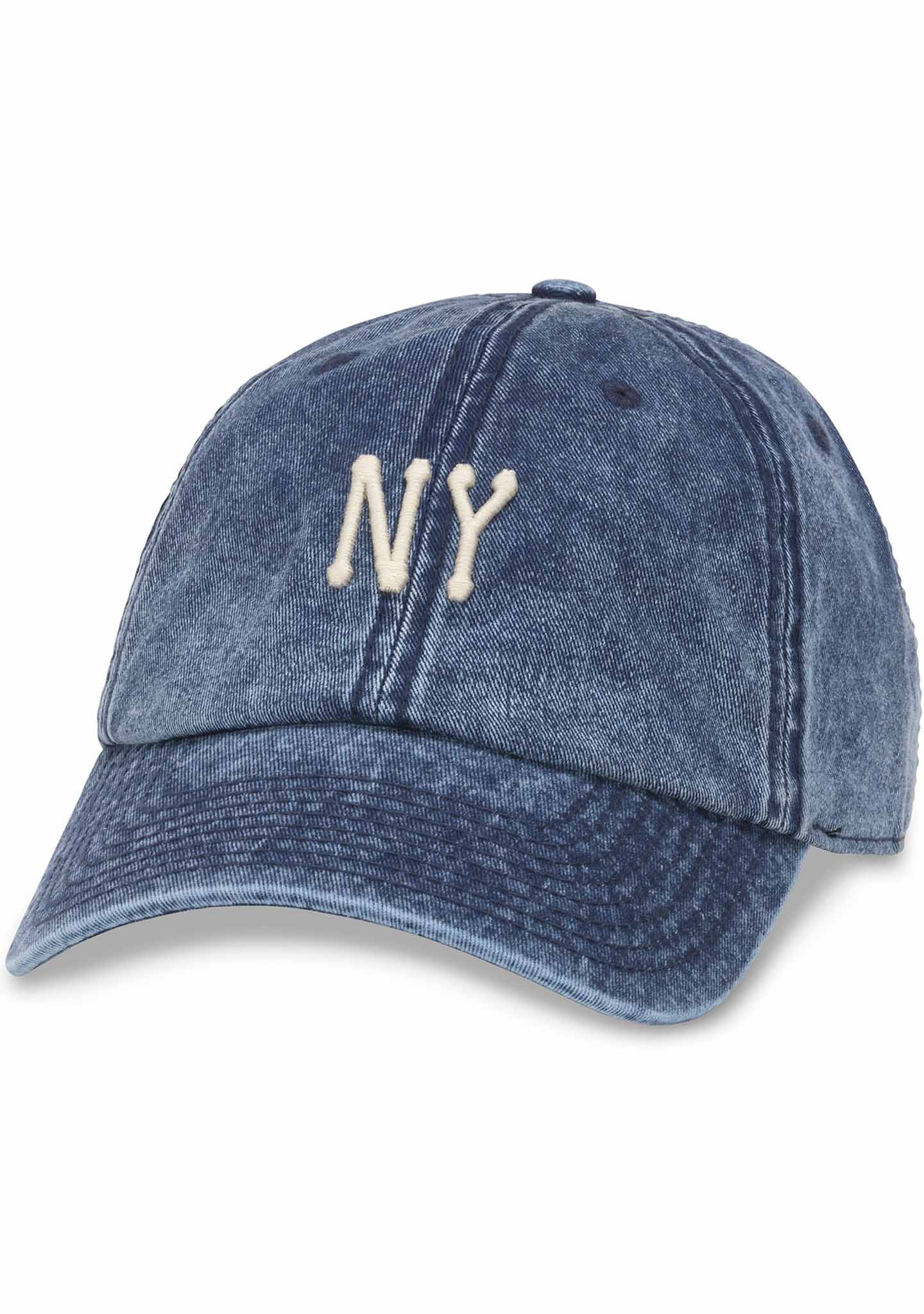 American Needle New York Elston Baseball Hat in Faded Navy Denim
