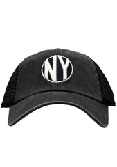New York Raglan Bones Hat in Black