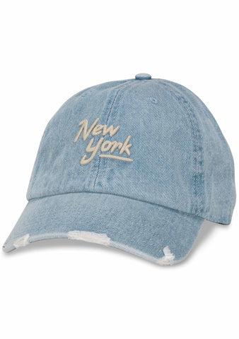 American Needle New York Round Up Baseball Hat in Light Demin