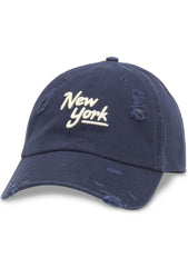American Needle New York Shred Slouch Raglan Hat in Navy