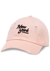 American Needle New York Shred Slouch Raglan Hat in Pink