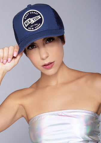 New York Valin Hat in Navy