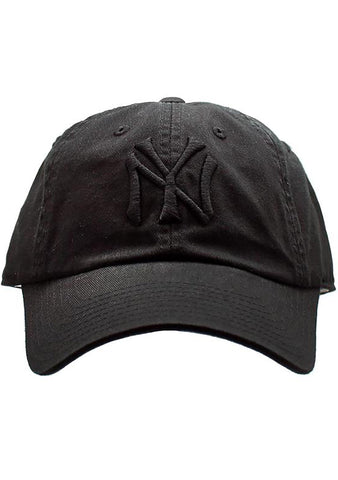 American Needle New York Yankees Tonal Ballpark Raglan Baseball Hat in Black