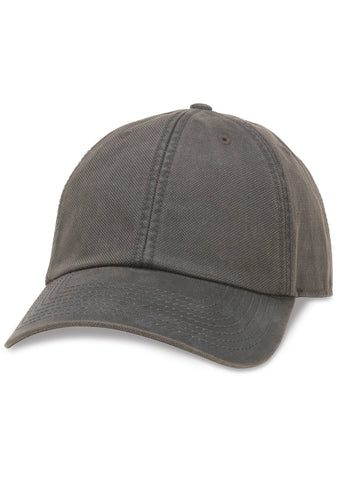 American Needle Blank Woodlawn Curved Brim Hat in Charcoal