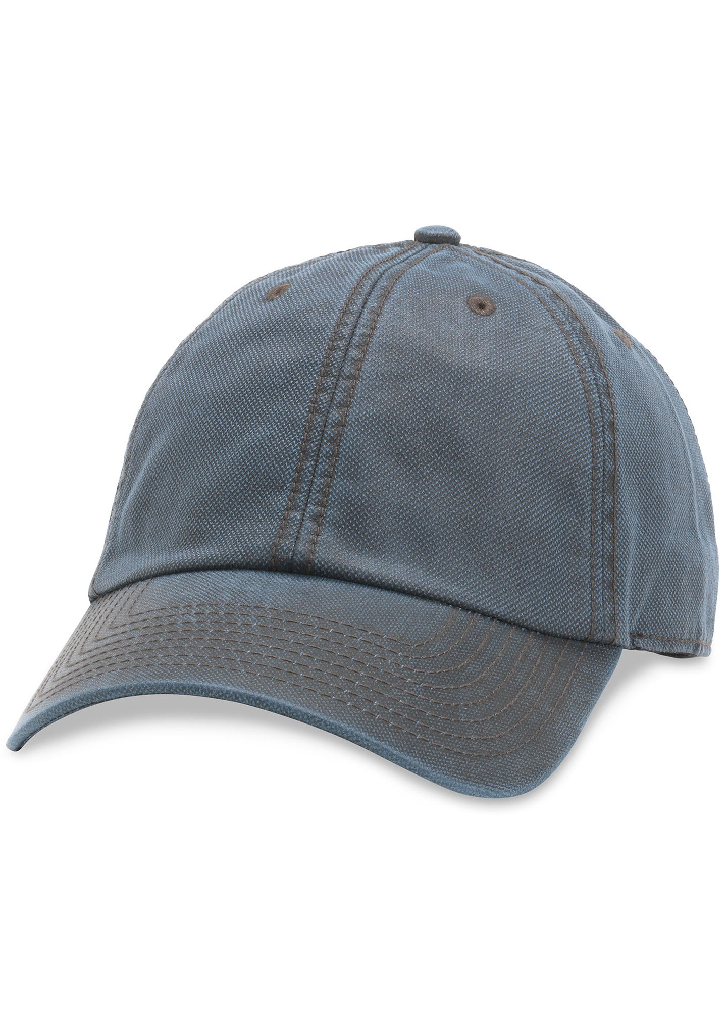 American Needle Blank Woodlawn Curved Brim Hat in Navy