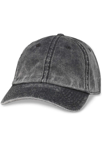 American Needle Blank Elston Washed Hat in Black