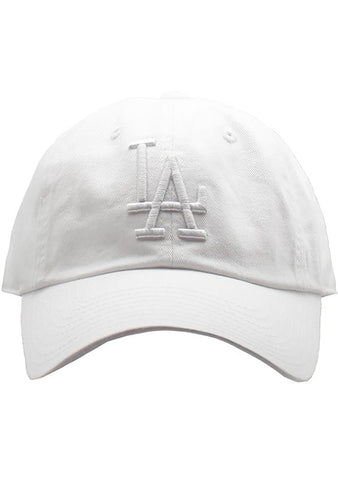 American Needle Los Angeles Dodgers Tonal Ballpark Raglan Baseball Hat in White
