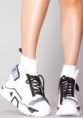 Anthrax Platform Wedge Sneakers