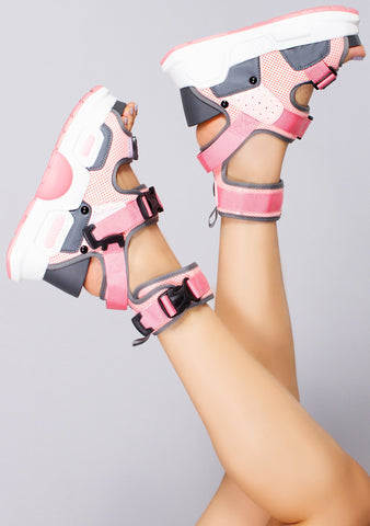 Bittersweet and Pink Platform Sandals