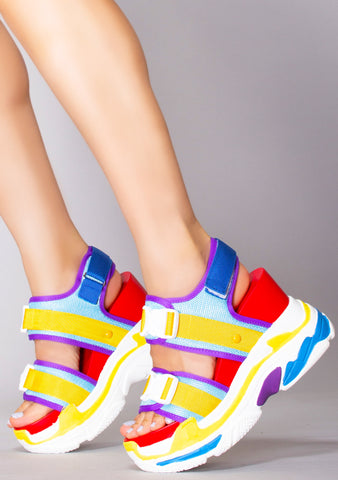 Color Strike Platform Sandals