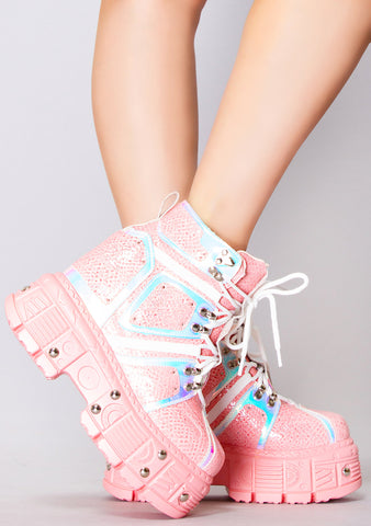 Love Bite Platform Wedge Sneakers