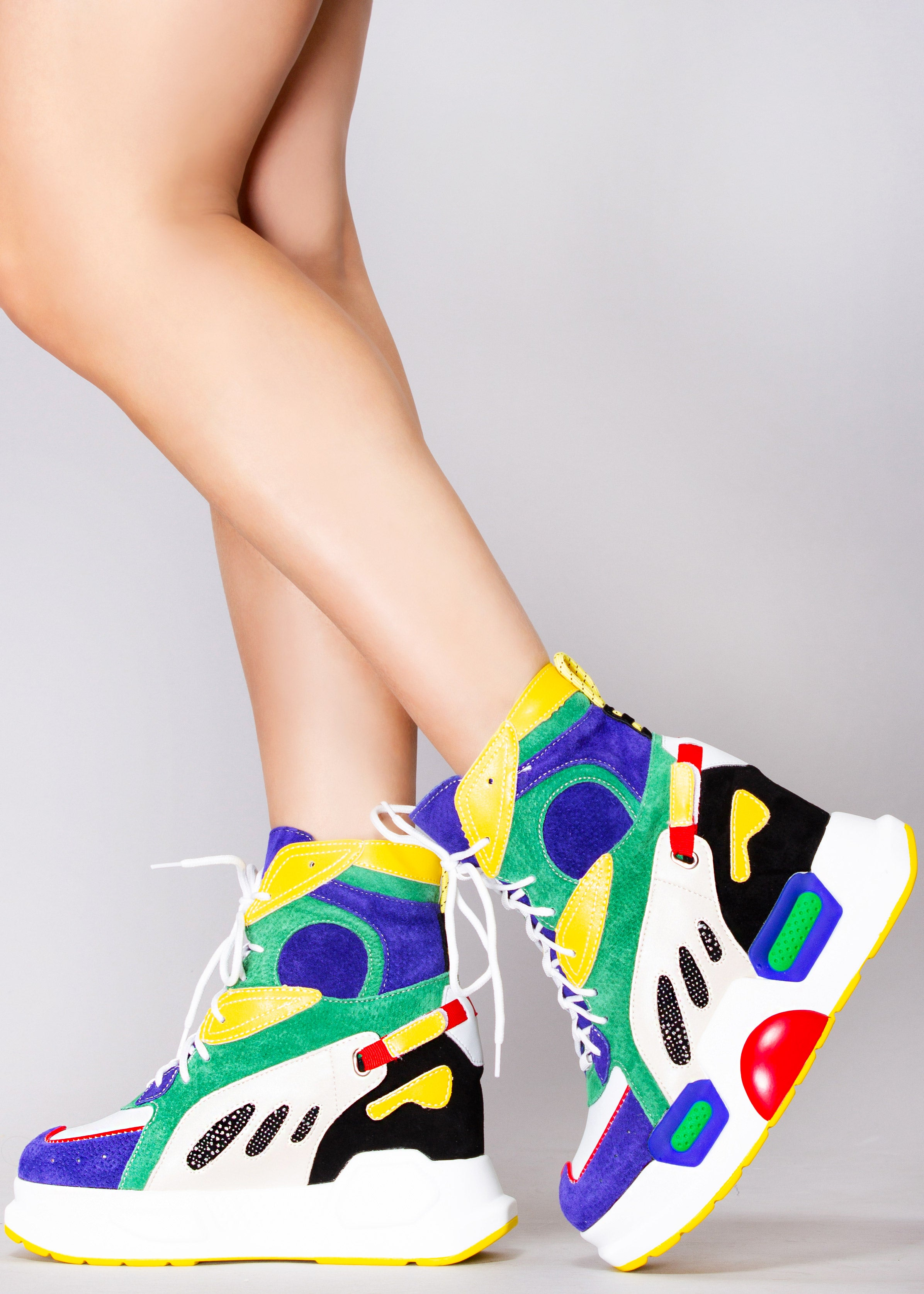 Level Up High Top Platform Wedge Sneakers