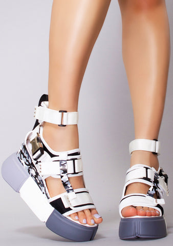 Shadow Mode Platform Sandals