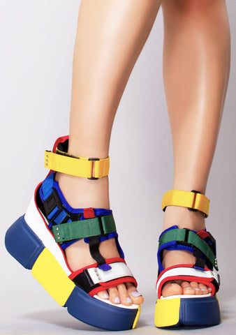 Together As One Platform Sandals