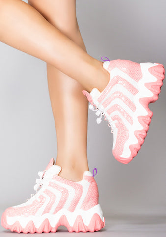 Venomous Strike Platform Wedge Sneakers