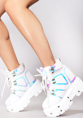 X LASR Exclusive Digital Dream Platform Wedge Sneakers