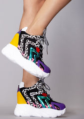 Electric Jungle Platform Sneakers