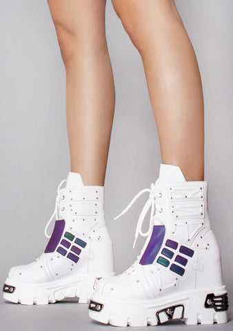 WTF Power Surge High Top Platform Sneakers