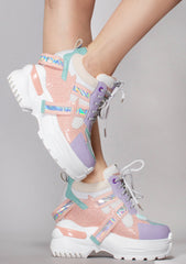 Pretty Poison Platform Wedge Sneakers