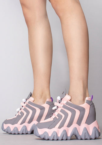 Think Fast Platform Wedge Sneakers