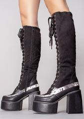 Venomous Lace Up Boots