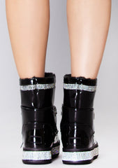 Winter Nights Rhinestone Faux Fur Boots