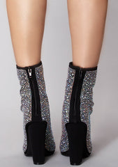 Glam Night Rhinestone Ankle Boots