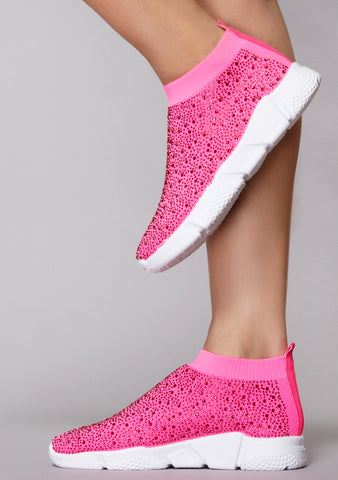 Neon Spark Diamond Sneakers
