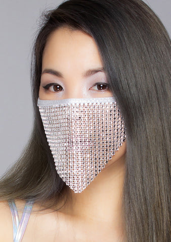 Disco Doll Crystal Face Mask