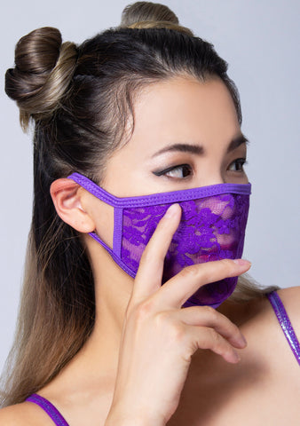 Grape Lace Dust Mask