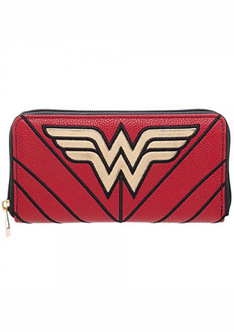 X DC Comics Wonder Woman Zip Around Wallet