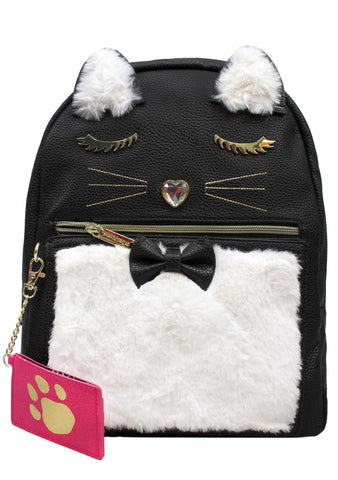 Kitsch Fuzzy Kitty Backpack