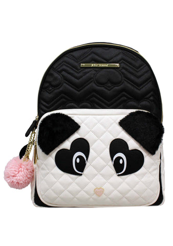 Fuzzy Panda Bear Kitsch Backpack