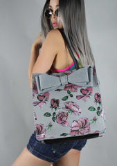 Bowriffic Tote Bag in Denim