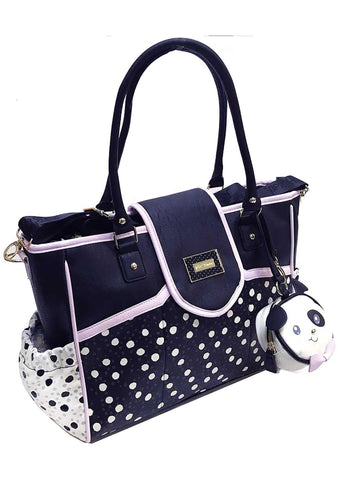 Betsey Johnson Flap Over Dots Diaper Bag