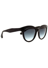 Betsey Johnson Glitter Betsey Sunglasses in Black