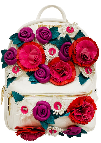 Betsey Johnson Crimson Gypsy Rose Mini Backpack
