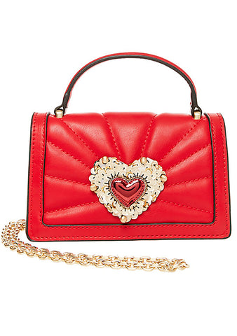 Betsey Johnson Hearts Afire Crossbody Bag in Red