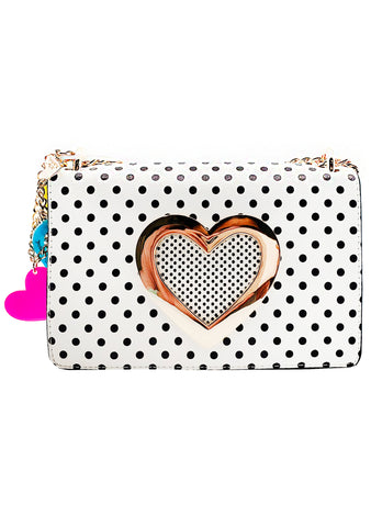 Betsey Johnson Sadies Hole in My Heart Crossbody Bag