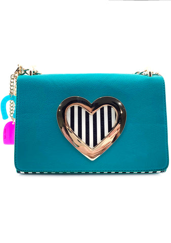 Betsey Johnson 80's Baby Hole in My Heart Crossbody Bag