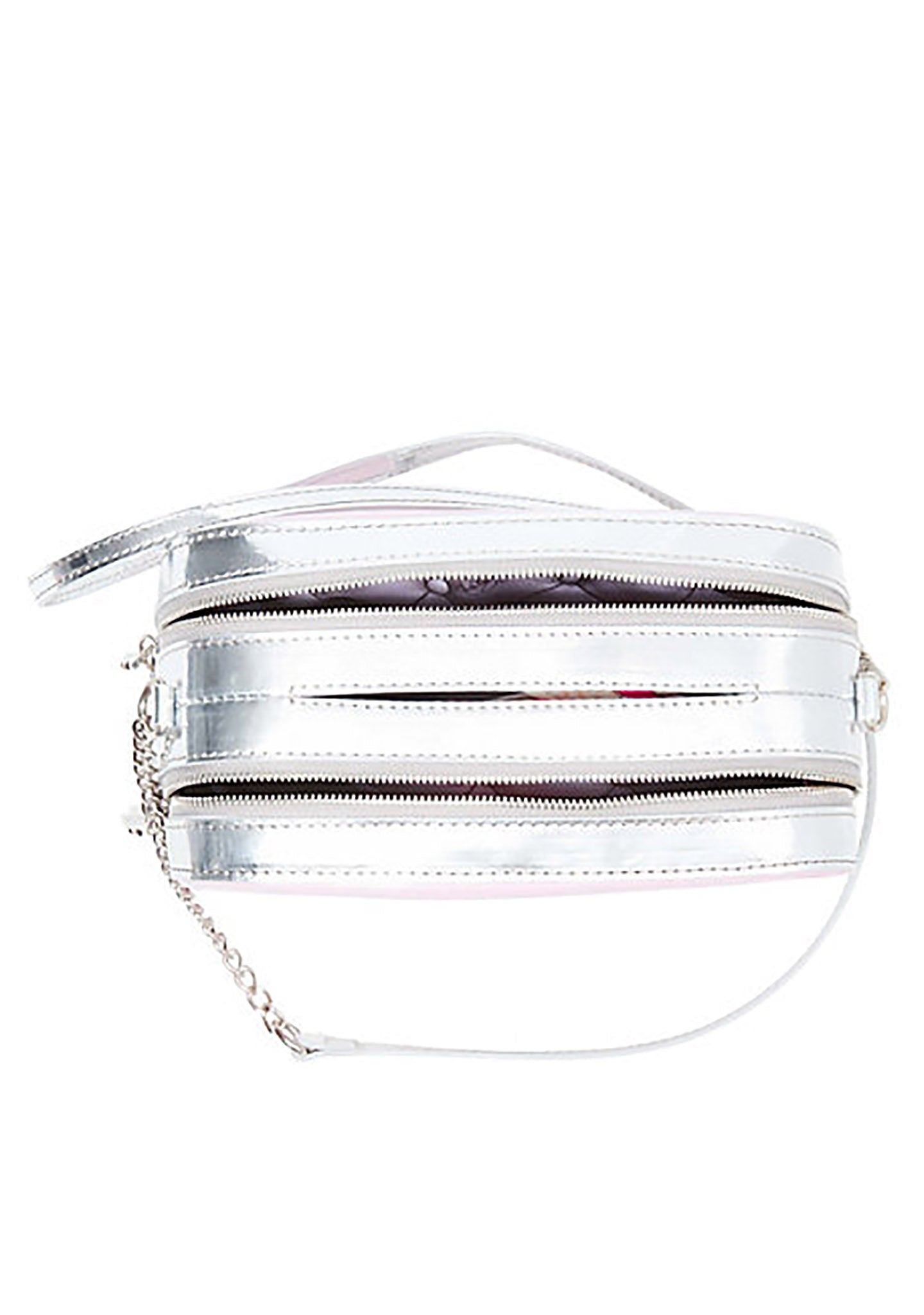 Betsey Johnson Kitsch A Toast To You Crossbody Bag in Silver