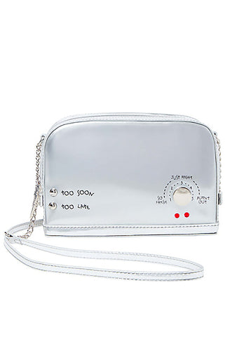 Kitsch A Toast To You Crossbody Bag in Silver