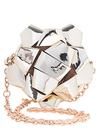 Betsey Johnson Kitsch Wrap Me Up Bow Crossbody Bag in Gold