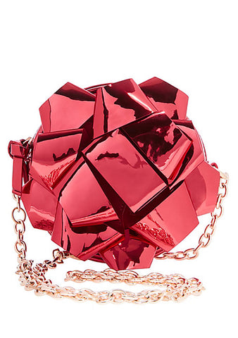 Betsey Johnson Kitsch Wrap Me Up Bow Crossbody Bag in Red