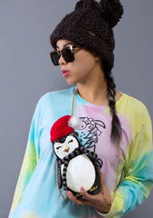 Kitsch Cozy Penguin Crossbody Bag