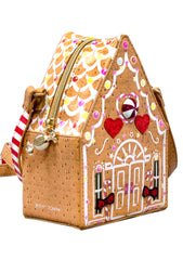 Kitsch Gingerbread House Crossbody Bag