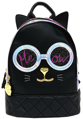 LBJAZZY Kosmic Atlantis Cat Mini Backpack
