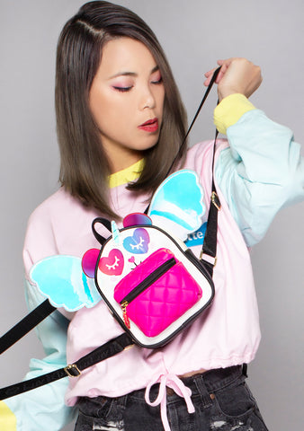 Wonderland UniPanda Winged Mini Backpack