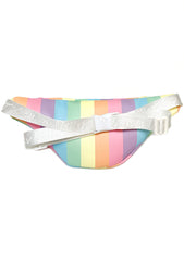 Betsey Johnson Kitsch LBJOY Pastel Rainbow Fanny Pack