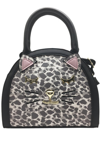 Sweet and Dangerous Mini Satchel Bag in Grey